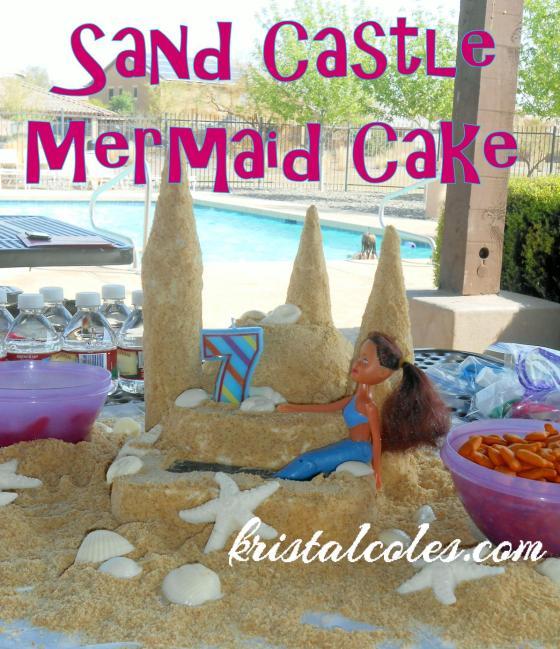 Sand Castle Mermaid Cake kristalcoles.com