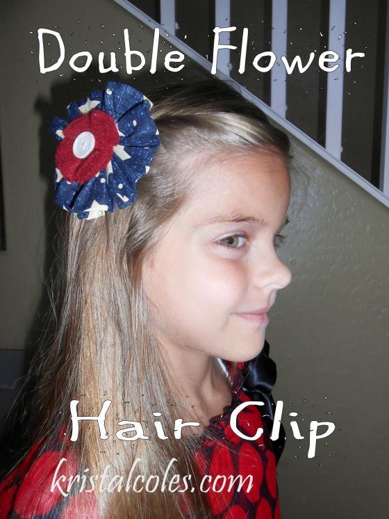 Double Flower Hair Clip - kristalcoles.com