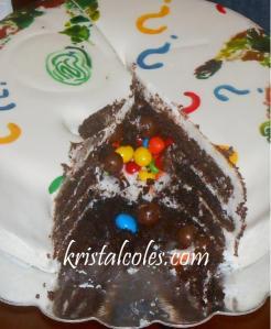 CLUE Reveal Cake - kristalcoles.com
